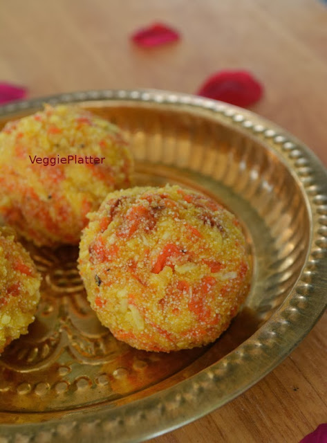 Carrot – Semolina laddu