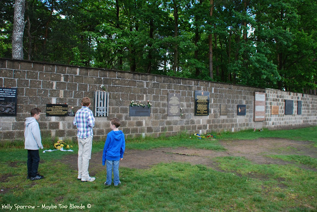 Memorial wall at Sachsenhausen concentration camp, Berlin Germany