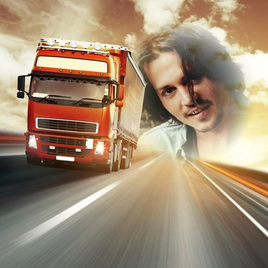 fotomontaje de camion