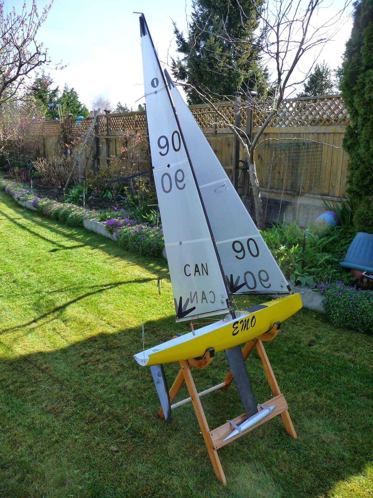 Rc Sailing Folding Wood Boat Stand Iom Tom Ndian