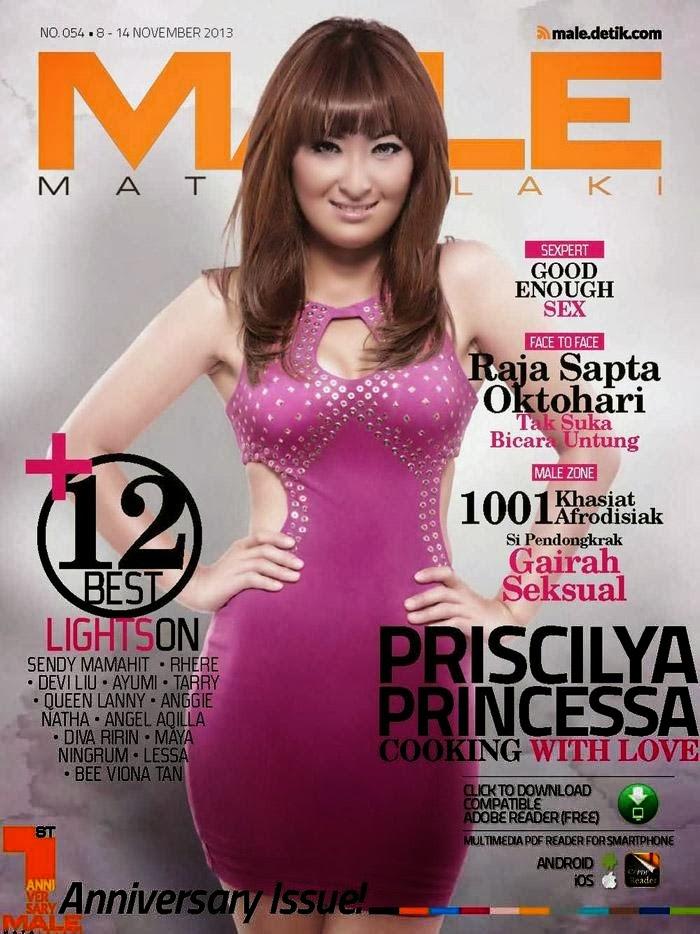 ... blogspot.com - Foto Priscilya Princessa di Majalah Male Nopember 2013
