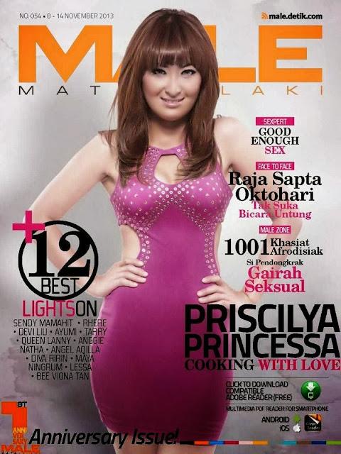 Foto Chef Priscilya Princessa di Majalah Male Nopember 2013