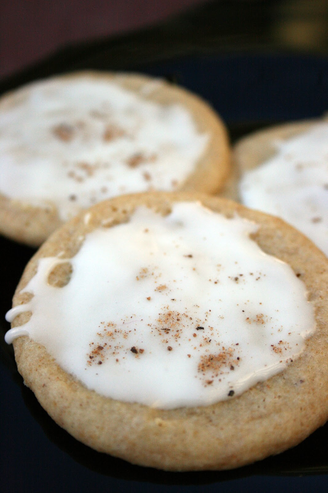 Iced Egg Nog Cookies