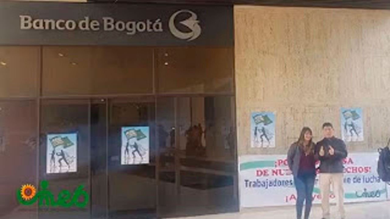Presentación del pliego de peticiones Banco de Bogotá