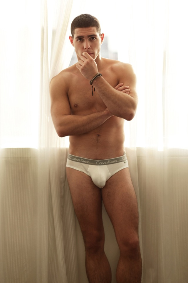 Hot men in their pants.: White