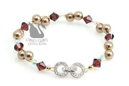 Mary Kay's Custom Mother of the Bride Crystal Pearl Illusion Bracelet (BCP219)