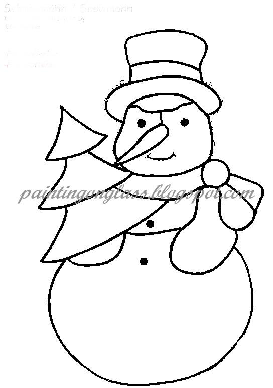 Modest image inside free printable snowman patterns
