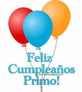 Feliz cumpleaños Primo