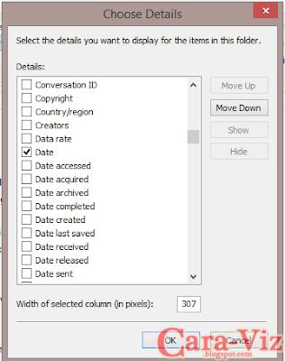 Cara Membuat Folder Tetap Diatas Sebelum File Ketika Dilakukan Sort by Date Pada Windows 8.1