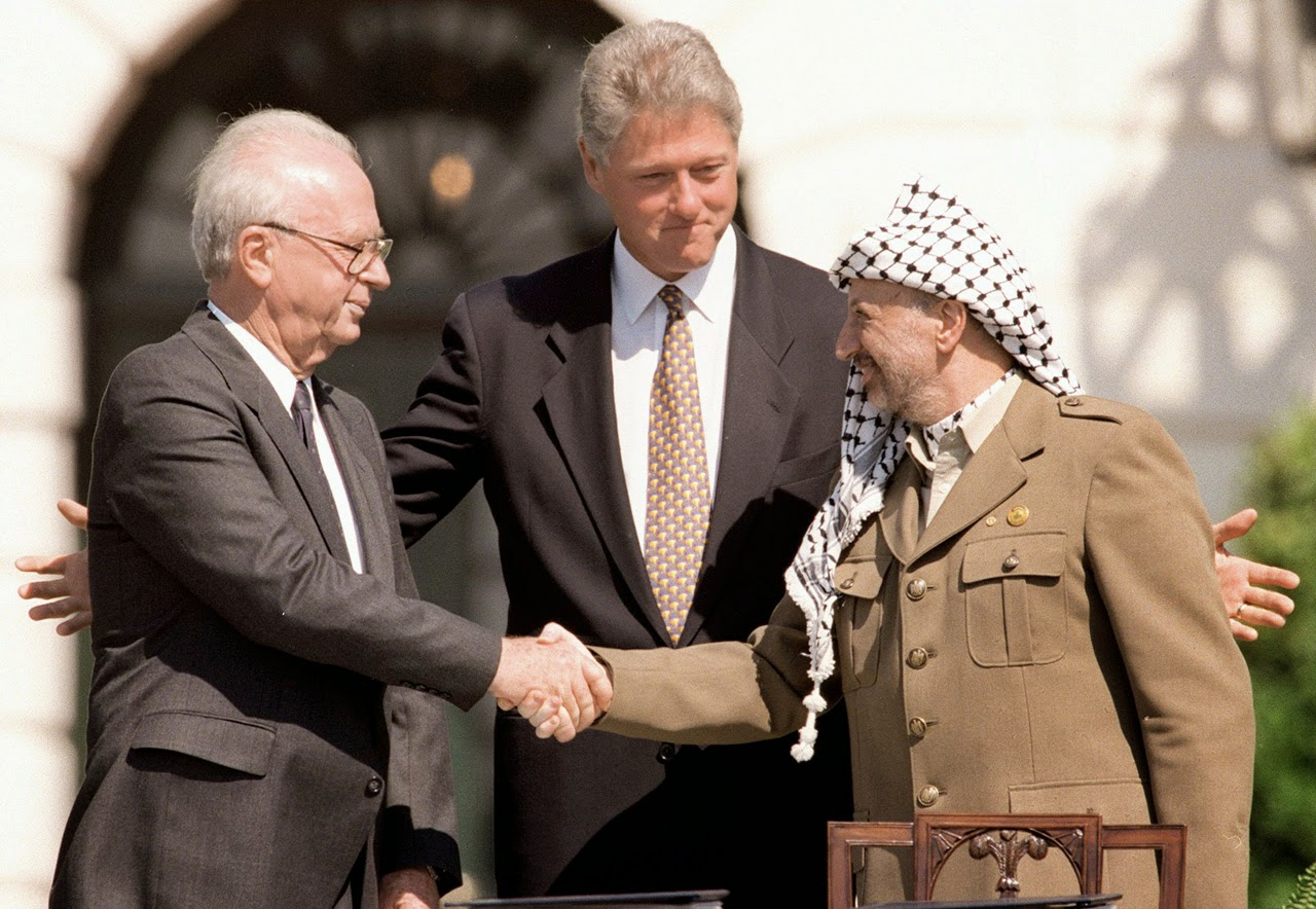 Isaac (Yitzaak) Rabín, Clinton, Arafat
