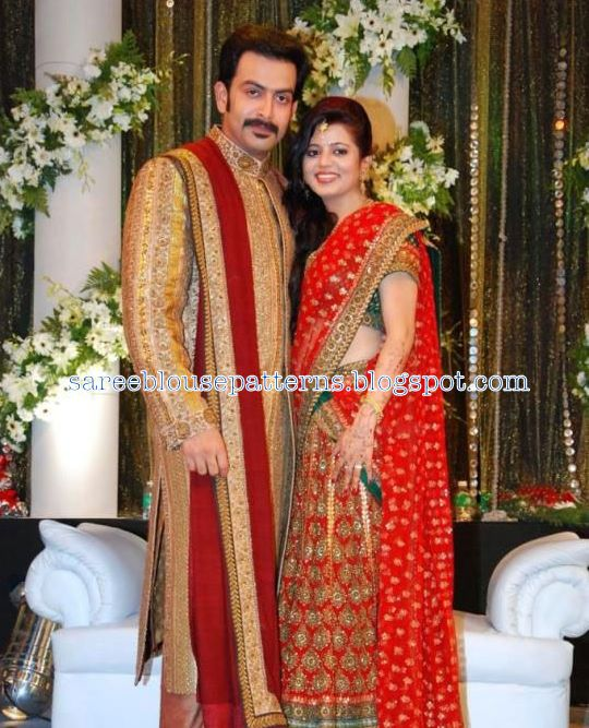 Supriya Menonprudviraj Wife In Bridal Saree At Their Wedding
