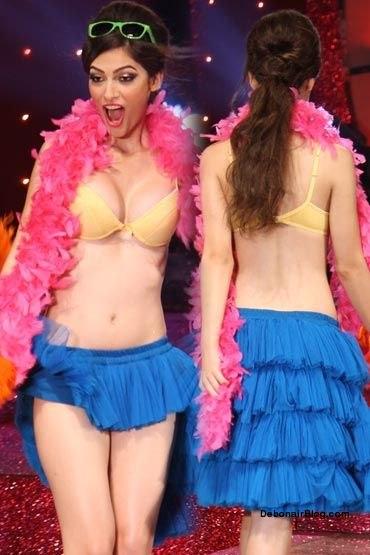 , Indian Beautiful Models In Bikini on Ramp