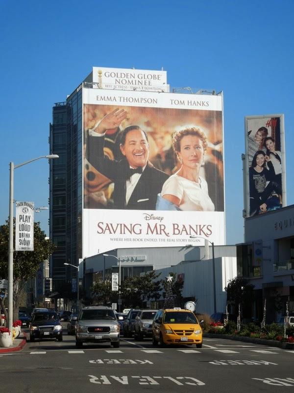 Giant Saving Mr Banks movie billboard