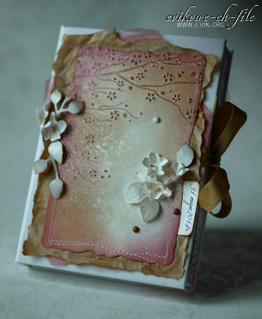 Folder do embossingu Flowering spring HSF010, Flowering spring, Ewa Jarlińska, Evik, evikowe ch-file, prezent na ślub, złota mgiełka