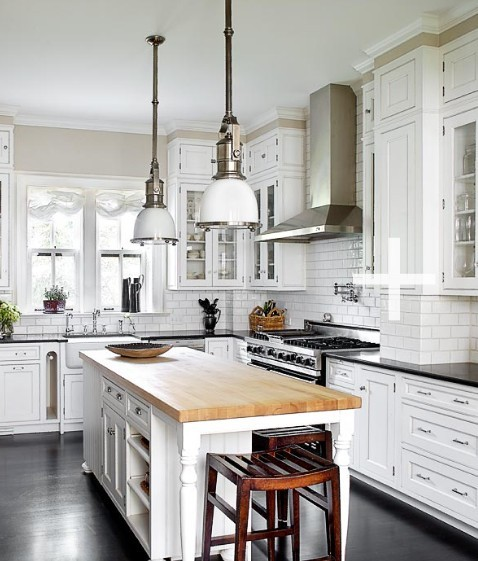 Black Kitchen Cabinets With Butcher Block Countertops: Everyday Shopaholic: Dream Kitchen