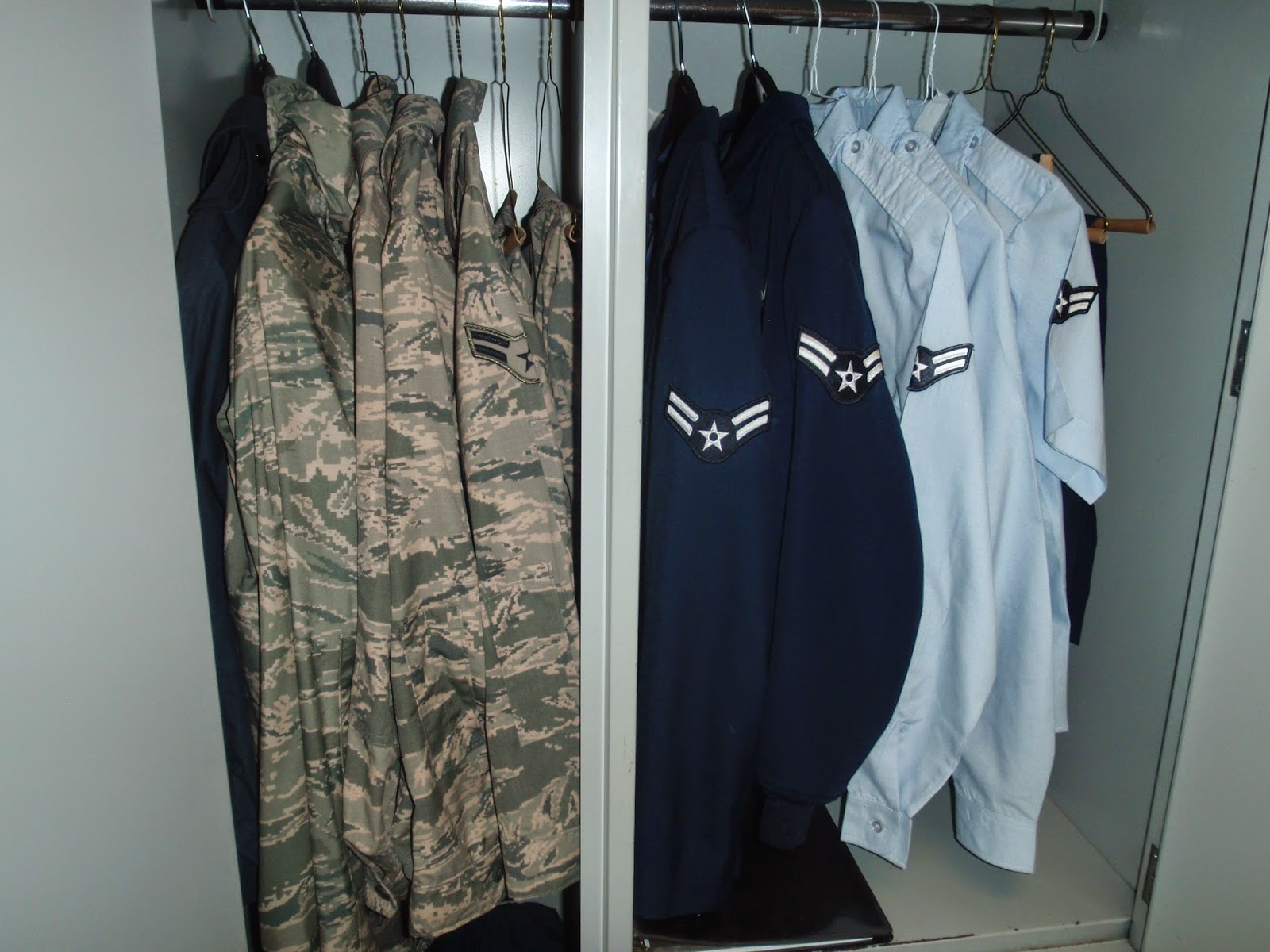 Air Force BMT Dorms, BMT Wall Locker