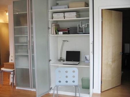 10 ideas de armarios convertidos escritorios decorar - Armario escritorio ikea ...