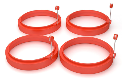 4 pack non-stick egg rings