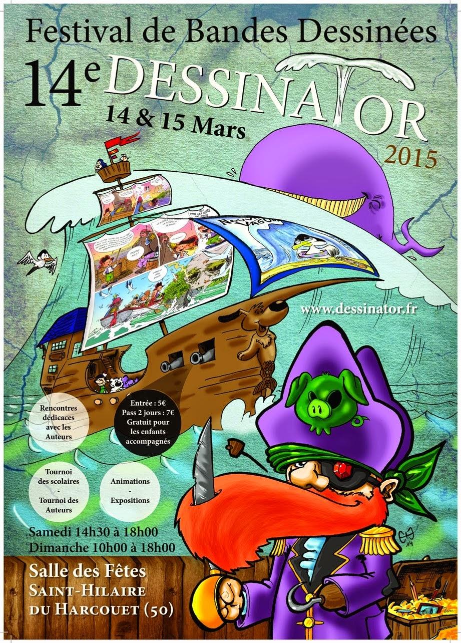 Festival Dessinator à Saint-Hilaire du Harcouët, 14et 15 mars 2015 (+ d'infos)