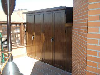 Aluminios alusa armario imitacion madera - Armario para terraza ...