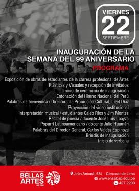 22 SET 2017 / 99 ANIVERSARIO ENSABAP