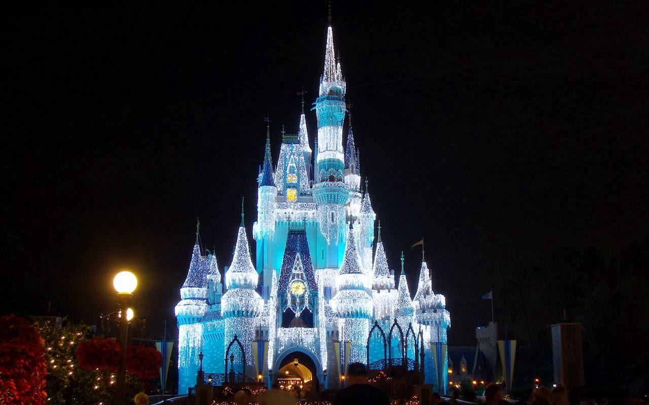 cinderella castle christmas lights desktops