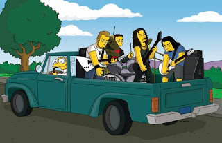metallica con los simpsons