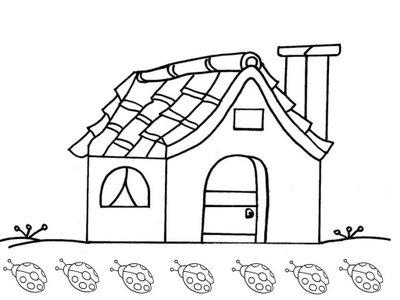 Desenhos de casas para colorir e pintar desenhos para - Para pintar casas ...