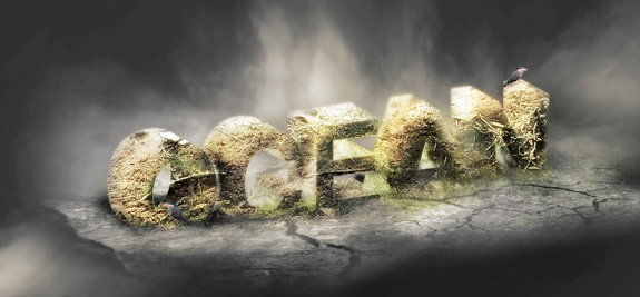 occean 3d text photoshop 30 Striking 3D Text in Photoshop Tutorials