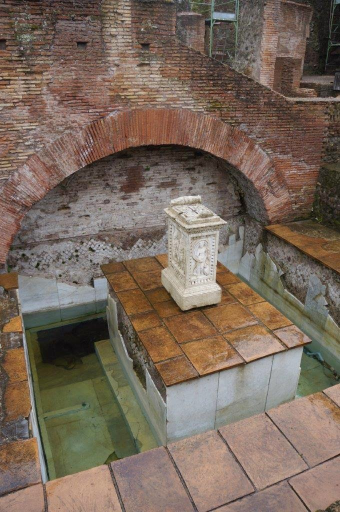 Roman bath in Rome Italy.