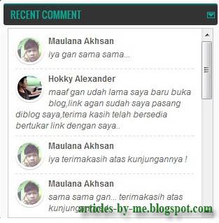 Tips Cara Membuat Recent Comments Gambar Di Blogger