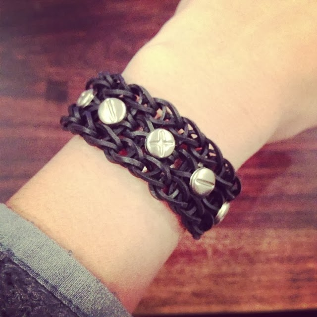 Cobberson.com punk rainbow loom bracelet
