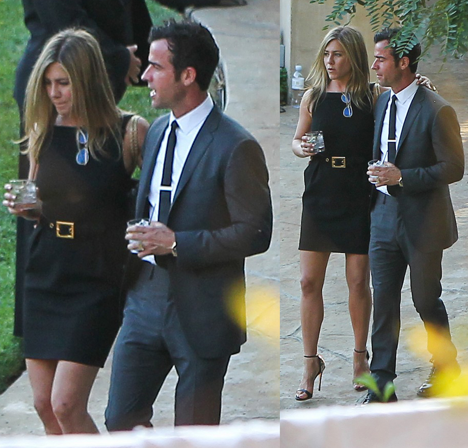 No Black For A Wedding Guest Jennifer Aniston Is Definitely Not On Board
