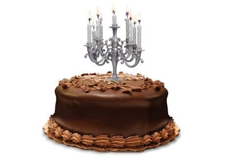 A Chandelier Cake Topper Candleholder That Liberace Would Have Loved Get It Here