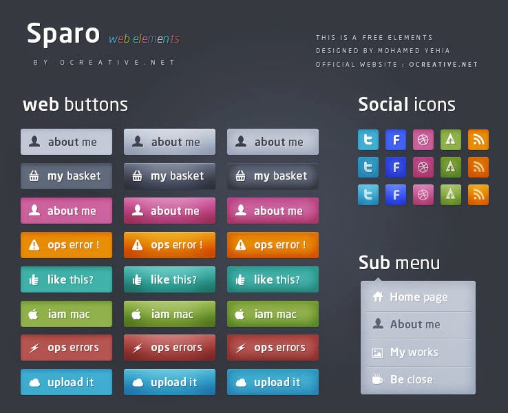 Sparo Web Elements PSD
