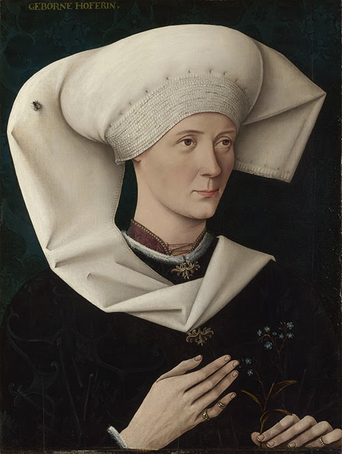 Actual Flemish painting - Portrait of a Woman of the Hofer Family