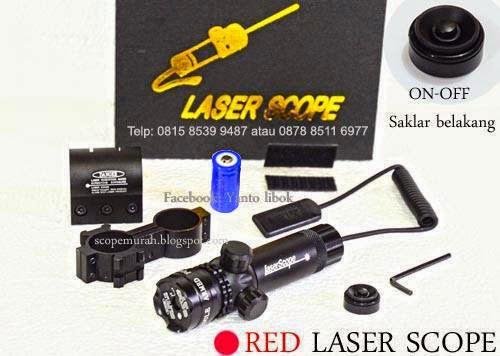 red laser scope senapan angin