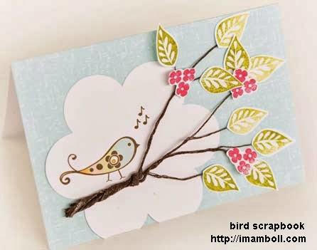 Gambar Scrapbook Burung Dan Ranting Pohon