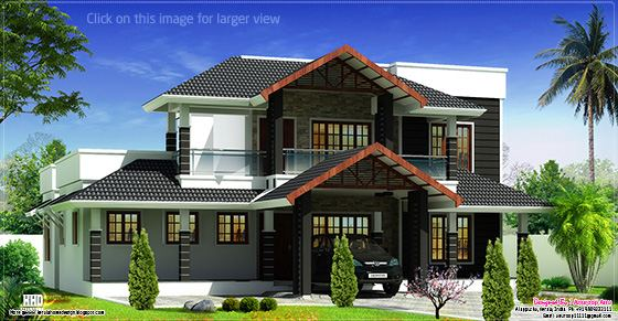 Kerala villa elevation