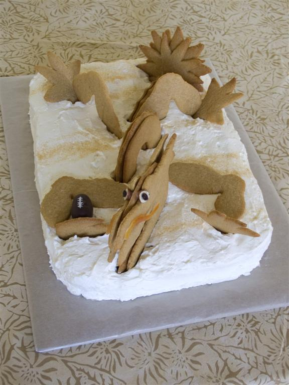 Cut-Up Cakes for Grownups: The Reluctantly Posted Dragon