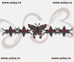 bracelet tattoo design / butterfly tattoo design