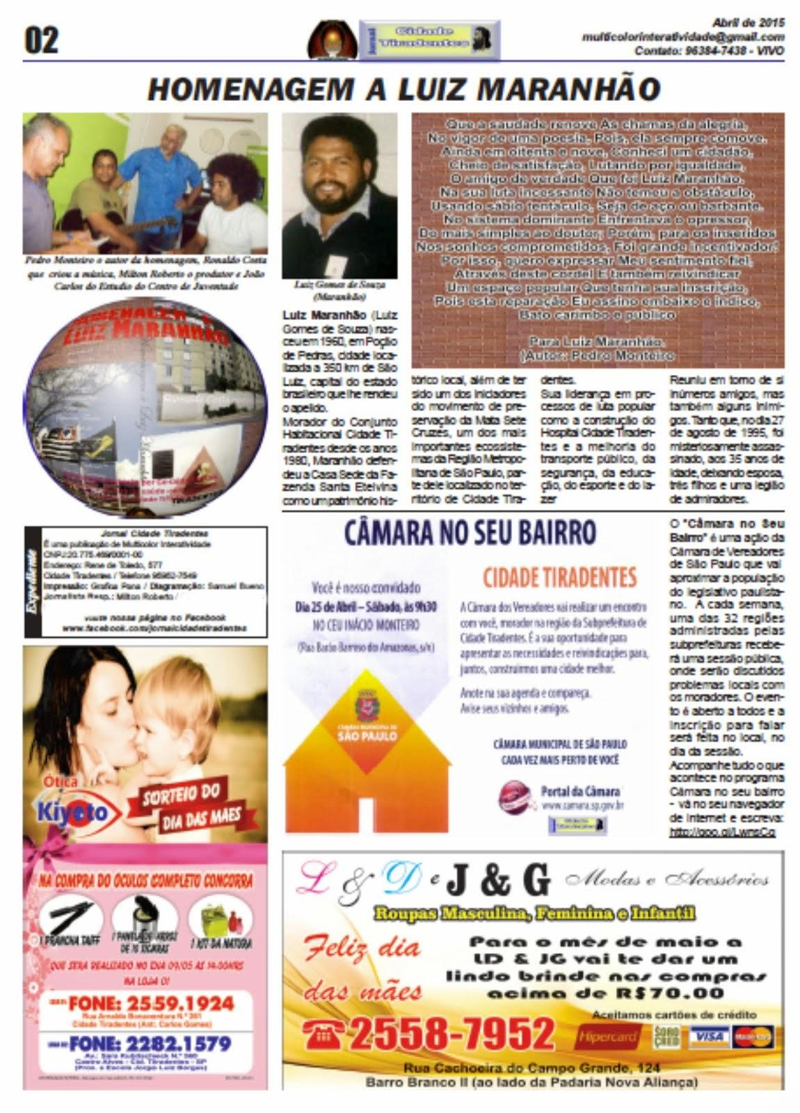Jornal Cidade Tiradentes 56/2