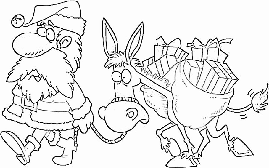 kids under 7 santa claus coloring pages