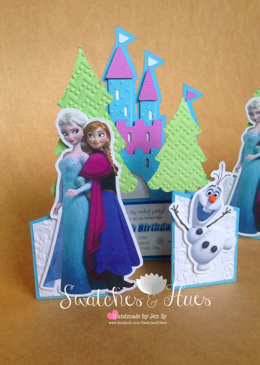 Swatches & Hues : Handmade with TLC: Frozen theme gate ...
