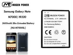 Samsung Galaxy Note 2650mAh Extended Battery