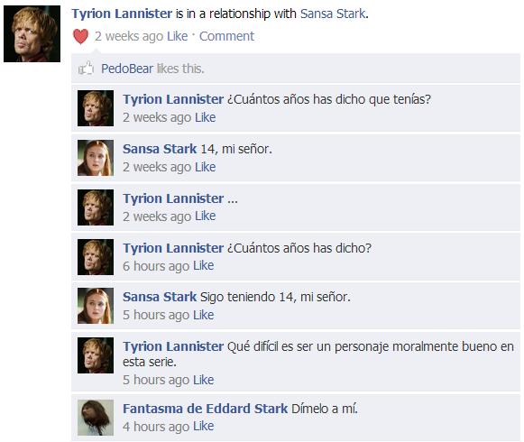 Tyrion Sansa Facebook - Juego de Tronos en los siete reinos