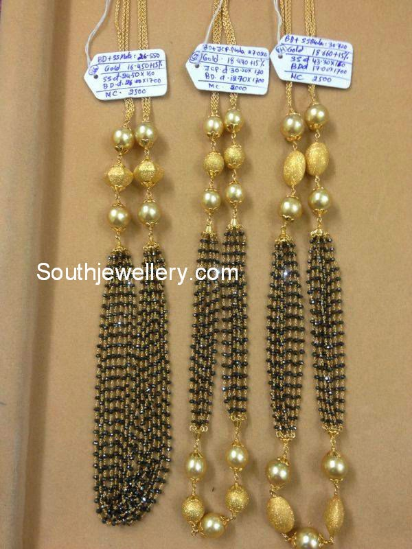 latest nallapusalu chain designs