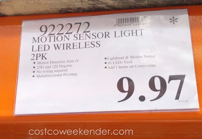 Deal for a 2 pack of Capstone LED Wireless Motion Sensor Lights at Costco