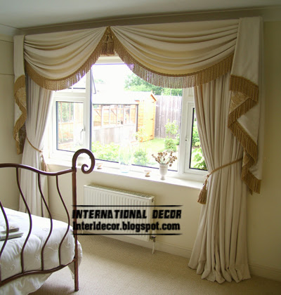 10 latest classic curtain designs style for bedroom 2015 for Curtains for bedroom windows with designs