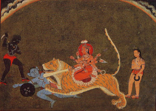 The Goddess Durga Slays a Titan